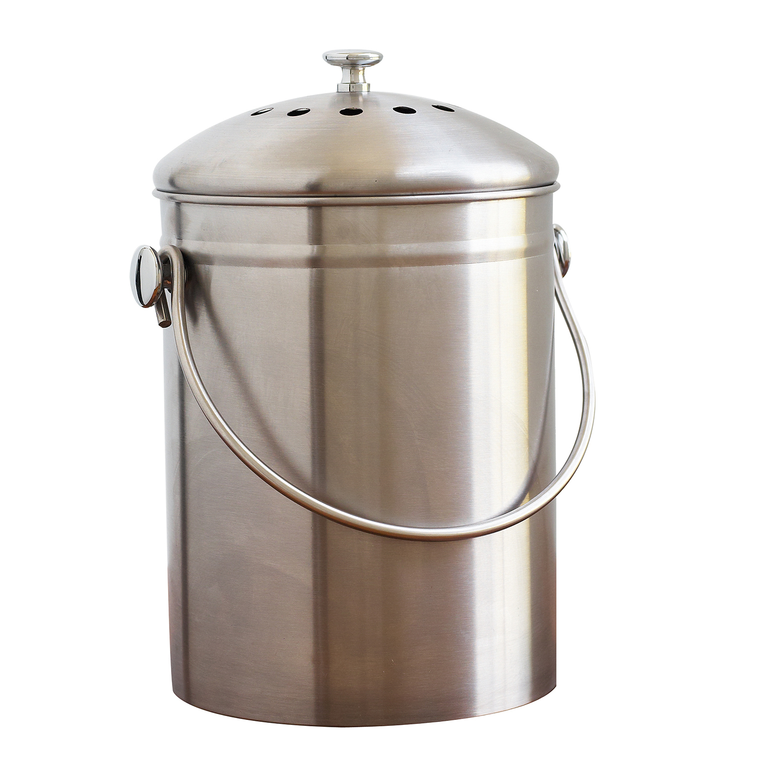 EarthHero - Recycled Stainless Steel Compost Bin - 1.3 Gallon 1