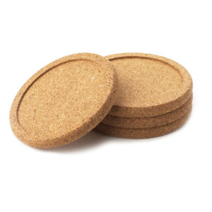 EarthHero - 4 Piece Cork Coaster Set -