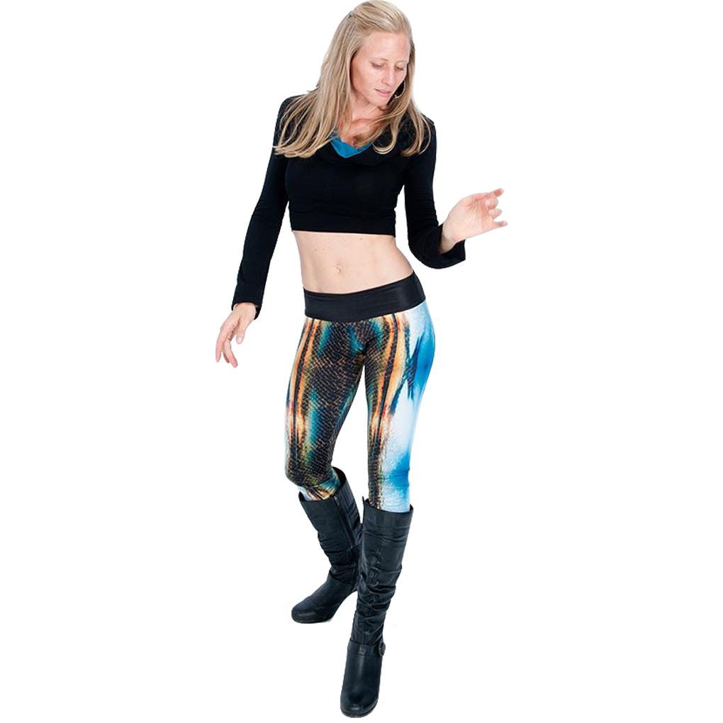 EarthHero - H2OM Snake Sunset Yoga Leggings 4