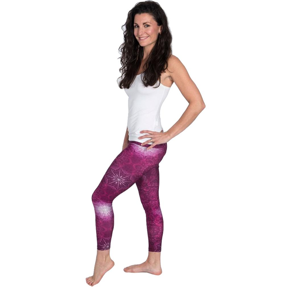 EarthHero - H2OM Pink Geo Yoga Leggings 2