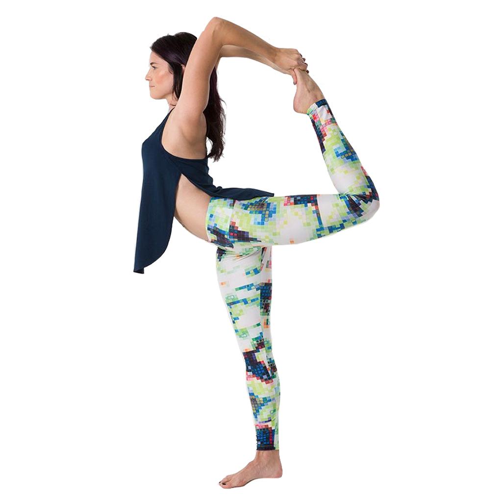 EarthHero - H2OM Green Pixel Yoga Leggings 1