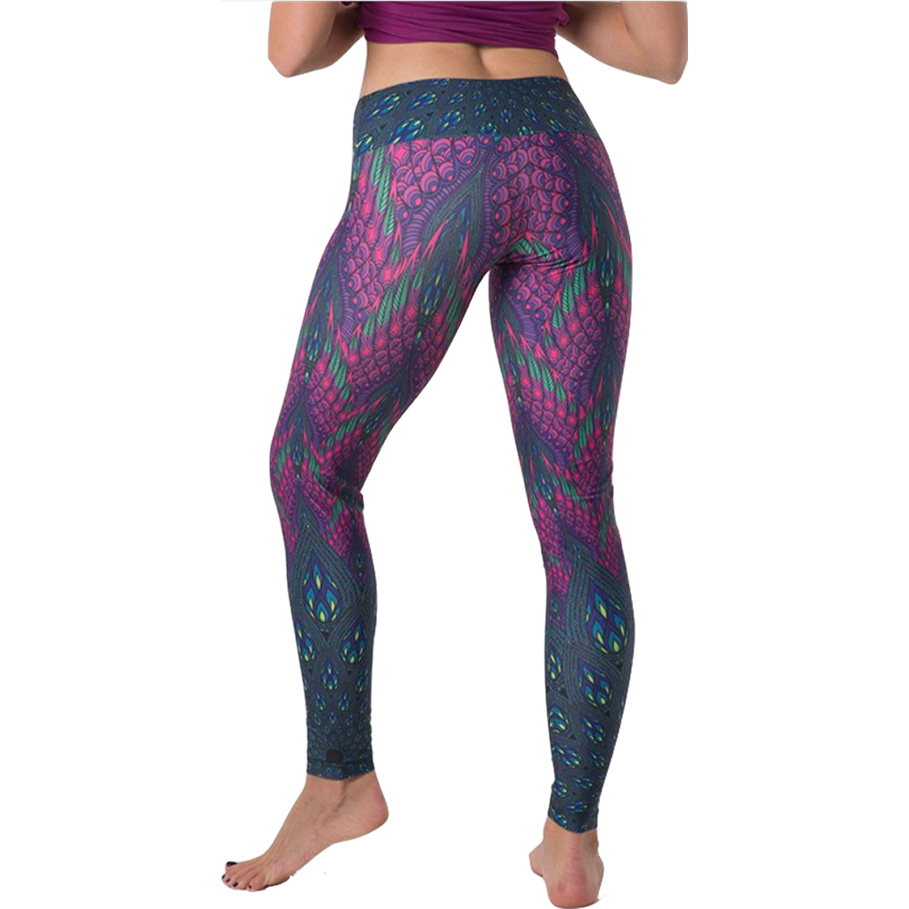 promo codes buy unparalleled Cosmic Peacock Yoga Legging