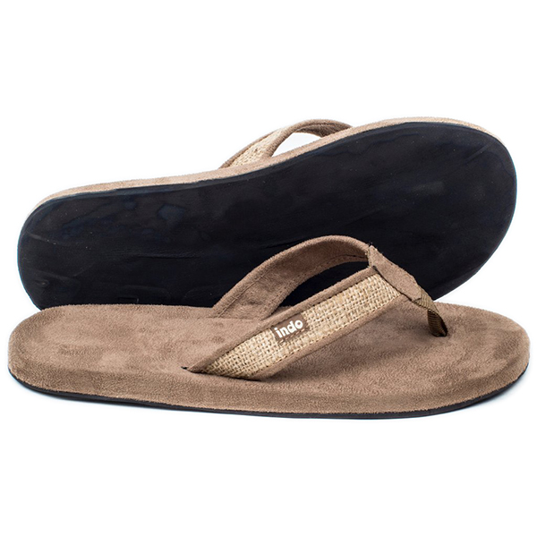 EarthHero - Tan Burlap Men's Sandal 1