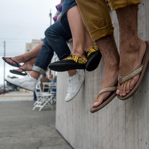 EarthHero - Tan Burlap Men's Sandal 2