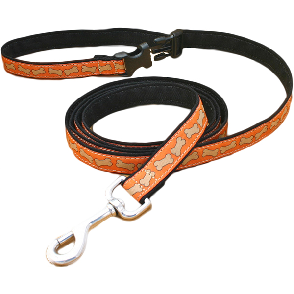 EarthHero - 6 Ft. Click n' Go Hemp Leash - Funky Patterns