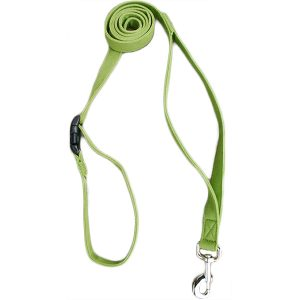 EarthHero - Basic Hemp Canvas 6 Ft. City Clicker Leash - Green - 1/2 Inch