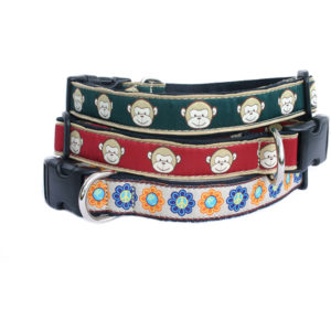 EarthHero - Hemp Dog Collar - Funky Patterns