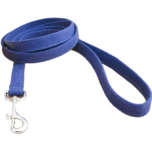 EarthHero - Basic Hemp Canvas 6 Ft. Standard Leash - Blue - 1/2 Inch