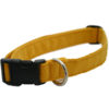 EarthHero - Hemp Corduroy Dog Collar - Marigold - XS (6 - 10 in.)