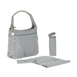 EarthHero - Green Label Hobo Diaper Bag - Grey