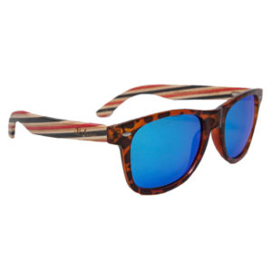 EarthHero - Wayfarer Polarized Sunglasses in Candy Cane 1