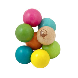 EarthHero - Twisting Wood Beads Teething Toy 1