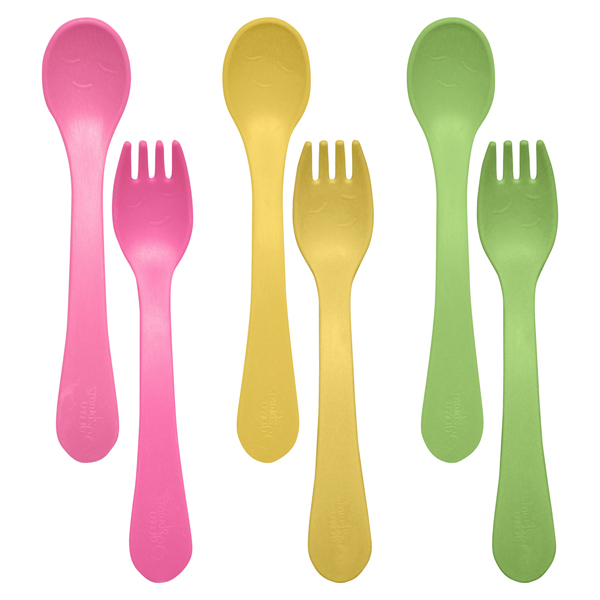 EarthHero - Sprout Ware Fork & Spoon Kit - Pink