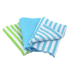 EarthHero - Organic Multi-Purpose Muslin Cloths - Aqua
