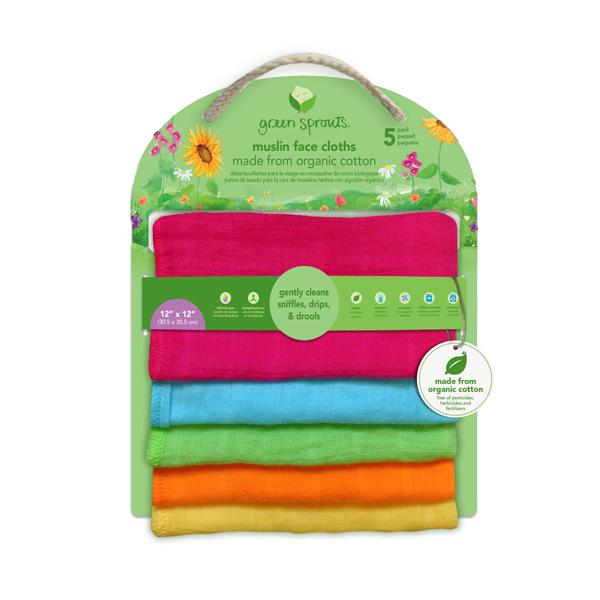EarthHero - Organic Cotton Muslin Face Cloths 2