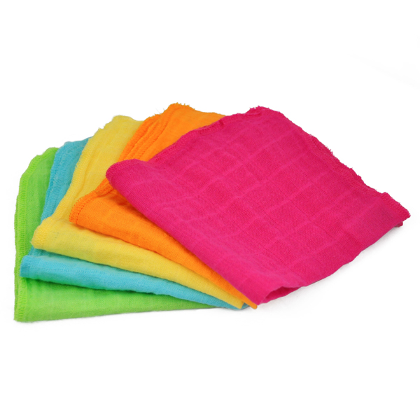 EarthHero - Organic Cotton Muslin Face Cloths - Pink