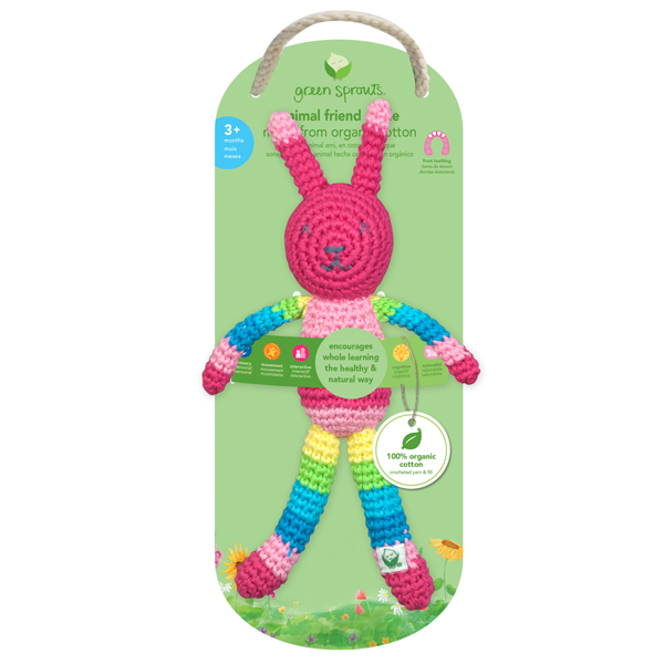 EarthHero - Animal Friend Organic Baby Rattle 2