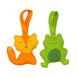 EarthHero - Adventure Friends Car Seat Toy - Orange/Green
