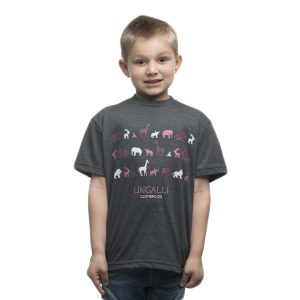 EarthHero - Pink Jungle Kid's Graphic Tee - 1