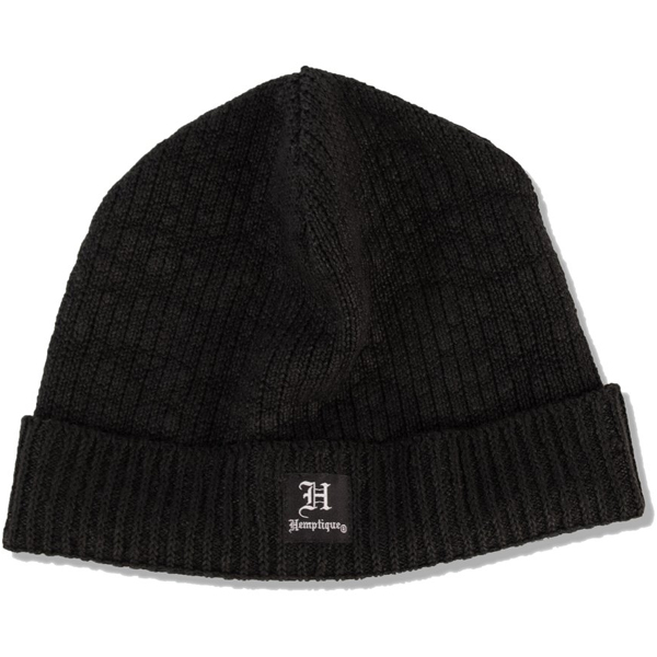 EarthHero - Short Hemp Beanie - Black