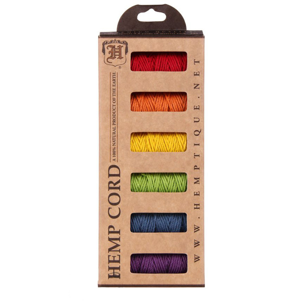 EarthHero - Hemp Cord Multicolor Mini 6-pck - Rainbow Fields