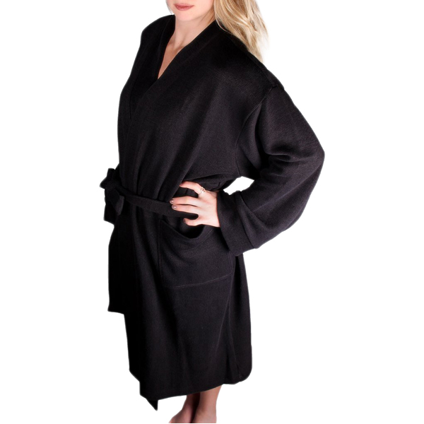 EarthHero - Hemp Bathrobe - Black