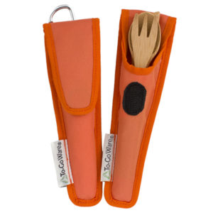 EarthHero - Kids Bamboo Utensil Set - Orange