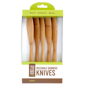 EarthHero - Bamboo Utensils 5 Pack Knives - 1