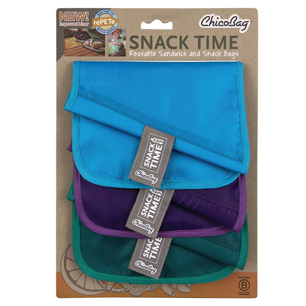 EarthHero - Snack Time rePETe Reusable Snack Bags - 6