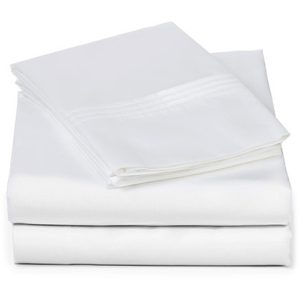 EarthHero - Organic Pleated Sheet Set - White