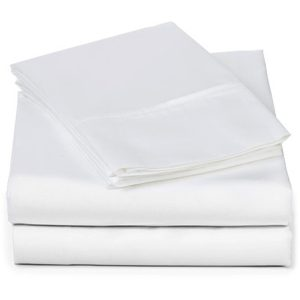 EarthHero - Organic Hemmed Sheet Set - White