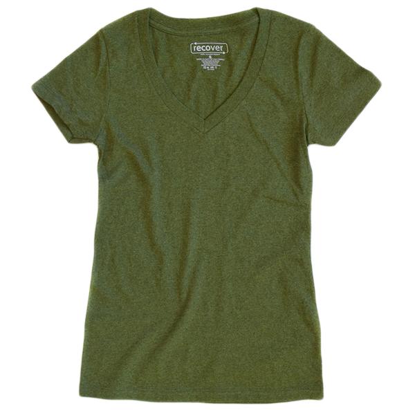 Recover - Women's V-Neck T-Shirt - Grass