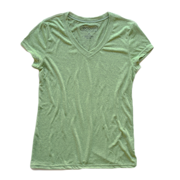 Recover - Women's Sport V-Neck - Heather Green