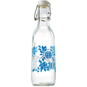 EarthHero - Peace Recycled Glass Water Bottle  - 1