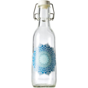 EarthHero - Mandala Recycled Glass Water Bottle  - 1
