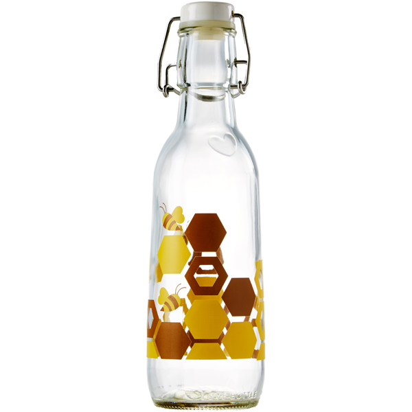 EarthHero - Honey Recycled Glass Water Bottle  - 1