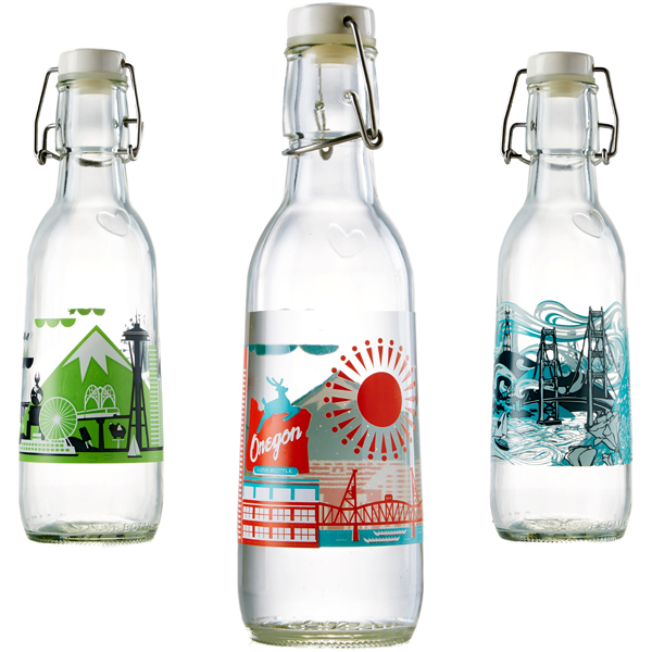 EarthHero - City Love Recycled Glass Water Bottle  - 1