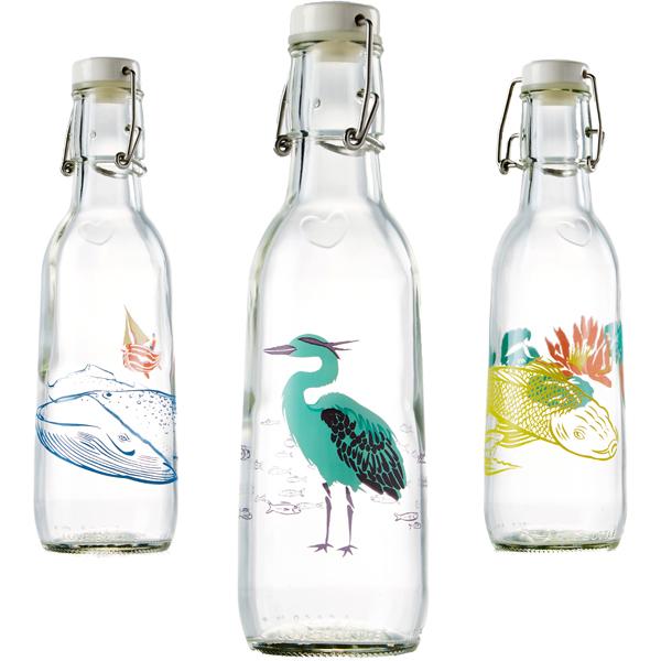 EarthHero - Animal Love Recycled Glass Water Bottle  - 1