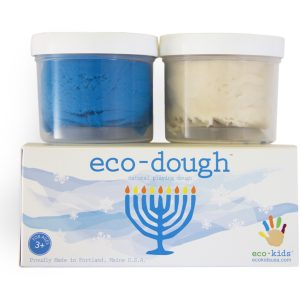 EarthHero - eco-dough Menorah Non-Toxic Play Dough