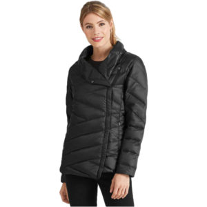 EarthHero - Women's Intersect Quilted Down Jacket - Caviar Stripe - Large