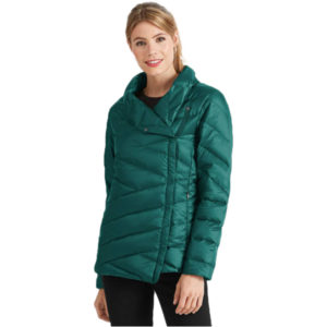 EarthHero - Women's Intersect Quilted Down Jacket - Ponderosa Stripe - Large