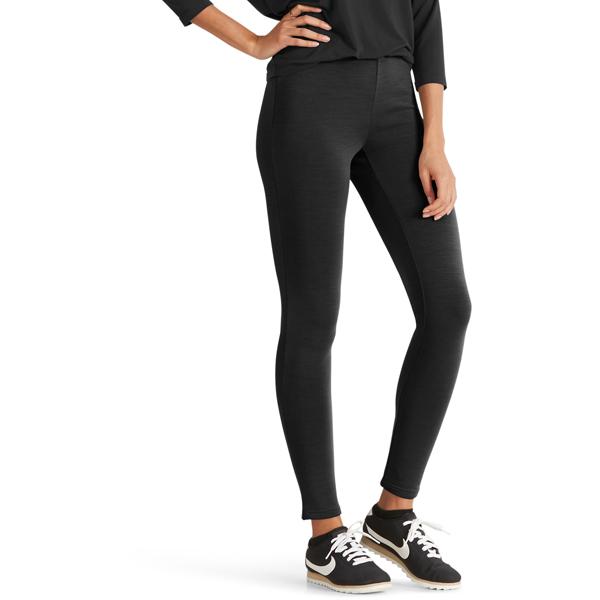 EarthHero - Women's Randygoat Stretch Merino Wool Leggings - Caviar Heather - Large