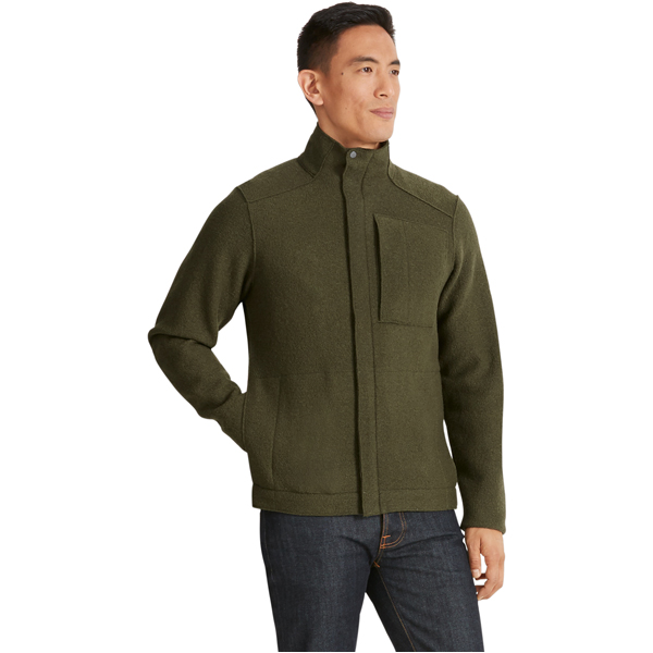 Mens Boiled Wool Jacket Nau Shop Eco Textiles