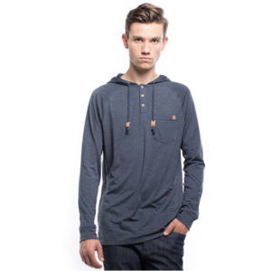 EarthHero - Hamiliton Long Sleeve Hooded Henley - XL