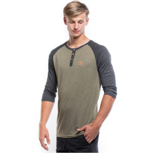 EarthHero - Eco-Blend Standard 3/4 Sleeve Henley - XL