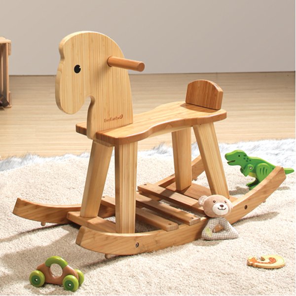 EarthHero - EverEarth Bamboo Kids Rocking Horse 2