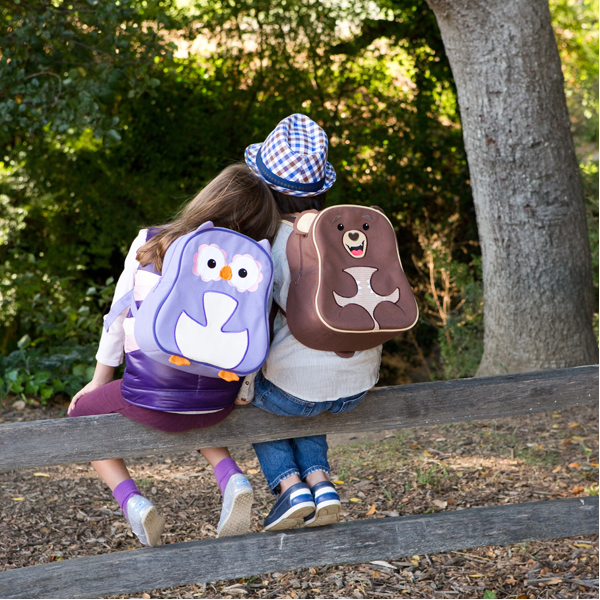 EarthHero - Purple Owl Little Kids Backpack 2