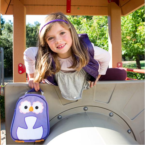 EarthHero - Purple Owl Childrens Lunch Bag 2
