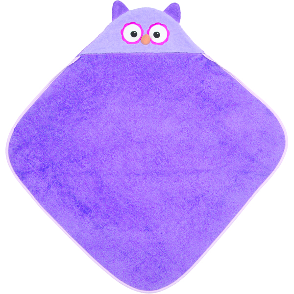 EarthHero - Purple Owl Kids Hooded Bath Towel