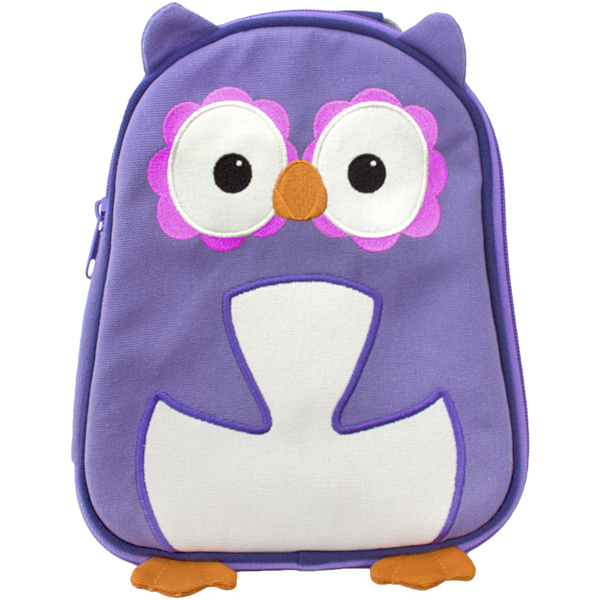 EarthHero - Purple Owl Childrens Lunch Bag 1